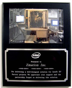Zmation, Inc. announces Intel Electrical Validation Award